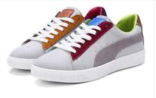 Womens Fashion Suede Lace Up Colorful Athletic Student School Preppy Sneakers