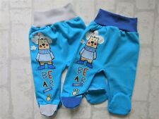 "**NEW** Baby Boys ""TEDDY BEAR"" Trousers/Leggings with feet *100% Cotton*"
