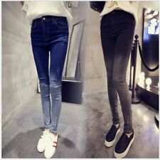 Women High Waist Slim Fit Ripped Hole Jeans Stretchy Pencil Pants Trousers XP
