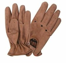 Premium Brown Leather Driving Gloves Motorcycle Biker Riding