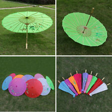 Handmade Chinese Cloth Floral Umbrella Parasol Wedding Party Dance Props Craft