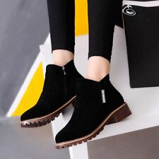 Women Ankle Boots Short Martin Boots Chunky Heels Boots Female Fashion Shoes XY
