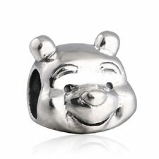 authentic Sterling Silver Charm Beads Cartoon Lovely Bear Animal Charms Bead