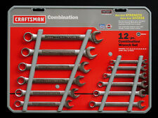 Craftsman 12 pc Combination Wrench Set Metric 6 or 12 Point USA