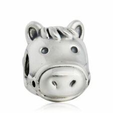 authentic Sterling Silver Vintage Silver Horse Charms Horse Animal Charm Bead