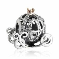 authentic sterling silver charm Pumpkin European Bead Fit Snake Chain Bangle
