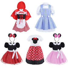 Girls Baby Red Riding Hood Minnie Mouse Kids Dress Fancy Cosplay Princess Outfit