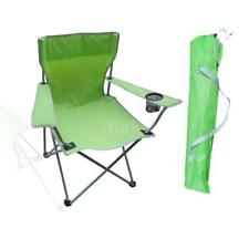 Portable Folding Oxford Cloth Camping Arm Chair With Cup Holder Carry Bag M8E6