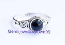 925 STERLING SILVER BLACK ONYX RING STONE GEMSTONE RING ANY SIZE R14BO
