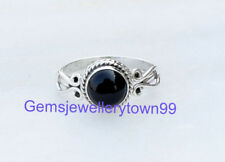 925 STERLING SILVER BLACK ONYX RING STONE GEMSTONE RING ANY SIZE R15BO