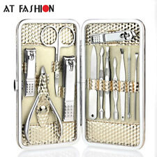 12pcs Stainless steel Manicure Set Nail Care Tools Pedicure Nail Clipper Kit