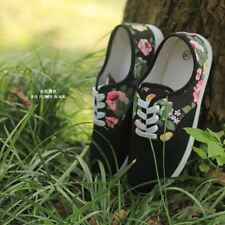 Summer Comfortable Casual Lace-Up Flats Canvas Outdoor Women Shoes