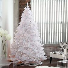 White Clear Light Pre-Lighted Artificial Full Christmas Tree Home Holiday Decor