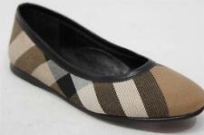 BURBERRY NOVA CHECK CANVAS GIRLS FLAT BALLERINA SHOES 30/12