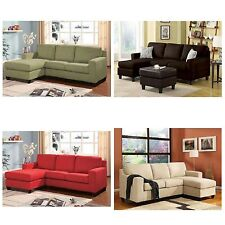Reversible Chaise Sectional Sofa Living Room Furniture Couch Microfiber Lounge
