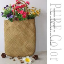 Charming Women Summer Beach Tote Woven Bag Casual Straw Knitted Shoulder Bag XH
