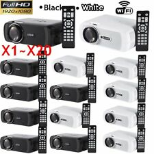 LOT WiFi LED LCD Home Cinema Projector TV Movie HDMI USB VGA Full HD 1080P SNW