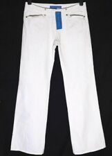 "New Women's French Connection Denim Jeans White RRP£65 L32"" Fcuk Mini Flare"