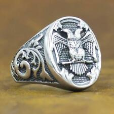 double headed german eagle 925 sterling silver ag authentic genuine mens ring