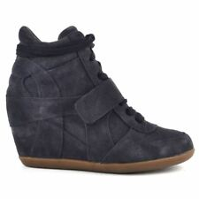 Ash Bowie Bis Midnight Womens Suede Wedge Ankle Boots