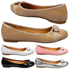 Dawn Womens Flats Low Heels Slip On Ballerinas Ladies Dolly Shoes Large Size New