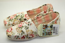 TOMS Shabby Chic Floral Womens Classics Women's Canvas Shoes US Size