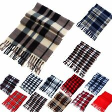 Women Men Winter Warm Scarf Cashmere Long Wrap Shawl Plaid Knit Scarf Warm ST