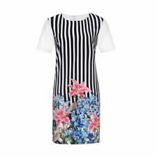 Summer Casual Short Sleeve O-neck Floral Printed Midi Dress For Women