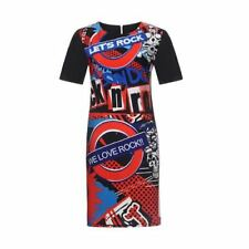 Women Short Sleeve Summer Casual O-neck Floral Printed Midi Dress