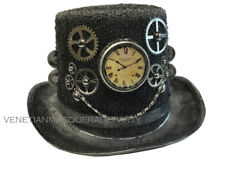 NEW Antique Brass Rustic Finish Cosplay Costume Burning Man Steampunk Top Hat