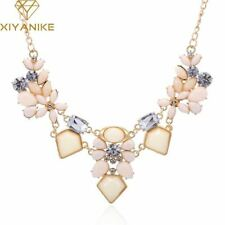 New Arrival Resin Fashion Colorful Cute Charm Gem Flower Choker Necklaces & Pend