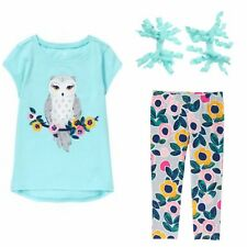 NWT Gymboree 3 piece set lot - NEW outfit - glitter owl! Size 7 8 10 12