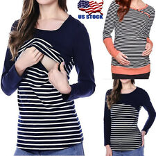 Breastfeeding Clothes Tops Maternity Nursing Tops T-shirt For Pregnant Women USA