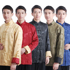 Chinese Men's Double-side Dragon Kung Fu Party Embroidery Dragon Jacket/Coat New