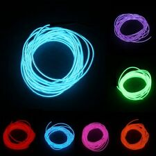 1M Colorful Flexible EL Wire Tube Rope Neon Light Glow Controller Party Decor