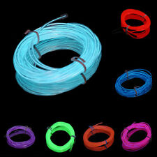 2m Flexible EL Wire Tube Rope Neon Light Glow Controller Car Party Decor SM