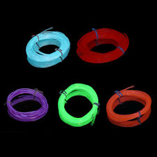 4m Flexible EL Wire Tube Rope Neon Light Glow Controller Car Party Bar Decor SM