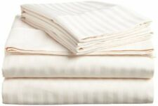 UK Home Collection- All UK Sizes 100% Egyptian Cotton 1000 TC Ivory Stripe