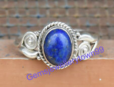 925 STERLING SILVER BLUE LAPIS LAZULI RING STONE GEMSTONE RING ANY SIZE R25LP