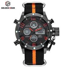 Luxury Brand Men Military Sports Wrist Watches Quartz LED Digital Nylon Strap