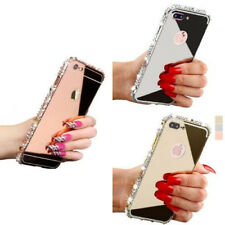 Luxury 3D Crystal Rhinestone Diamond Bling Metal Bumper Case For iPhone X