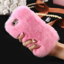 POPULAR Luxury Rabbit Fur Case for iPhone 8, IPhone X in Grey, Pink