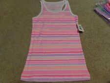 aeropostale kids ps girls' striped racerback tank cool multicolor NWT