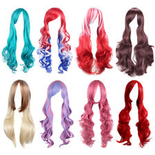 Lady 70cm Long Curly Wigs Fashion Cosplay Costume Hair Anime Full Wavy Party Wig
