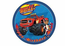 Blaze and the Monster Machines Rice / Wafer Paper or Icing Cake Topper 20cm #1