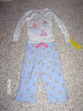 NWT Carters Girls 2 Piece Pajama Set Sizes 24 Months and 2T