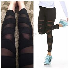 Women Running Yoga Fitness Leggings Gym Workout Sports Tight Crop Pants Trousers