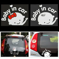 Baby In Car Cute Waving Baby on Board Safety Sign Car Sticker Decal 162*130mm M2