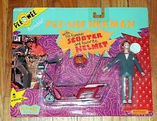 NEW Poseable PEE WEE HERMAN with SCOOTER & Helmet ACTION FIGURE Matchbox