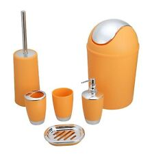 Bathroom Accessory Set Lotion Dispenser Holder Soap Dish Toilet Brush Trash Can